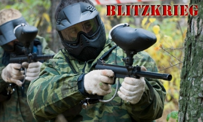 BlitZkrieg Paintball - Tampa: $25 for All-Day Play with Equipment Rental, Air, and 500 Paint Balls at BlitZkrieg Paintball ($58 value)