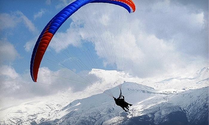 FlyBC Paragliding - Harrison Mills: $79 for a Tandem Paragliding Jump and Keepsake Helmet Video at FlyBC Paragliding ($200 Value)