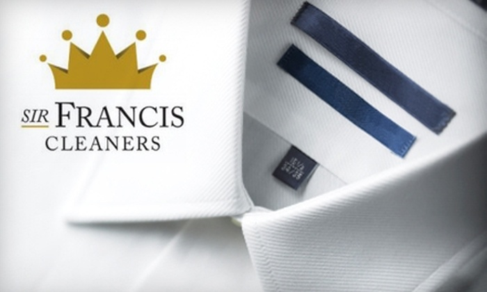 Sir Francis Cleaners - Westwood: $15 for $35 Worth of Laundry and Dry Cleaning at Sir Francis Cleaners in Westwood