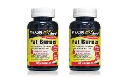 2-Pack of Mason Natural Fat Burner Supplement 60ct Bottles