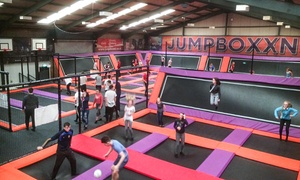 Jump Box NI: One-Hour Trampoline Park Access with Grip Socks for Up to Four at Jump Boxx NI (Up to 38% Off)