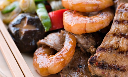 Six-Course Lunch for Two or Eight-Course Dinner for Two or Four at Red Flaming Teppanyaki (Up to 60% Off)