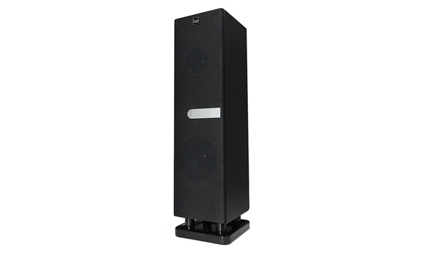 enceinte tour dual bluetooth de salon groupon. Black Bedroom Furniture Sets. Home Design Ideas
