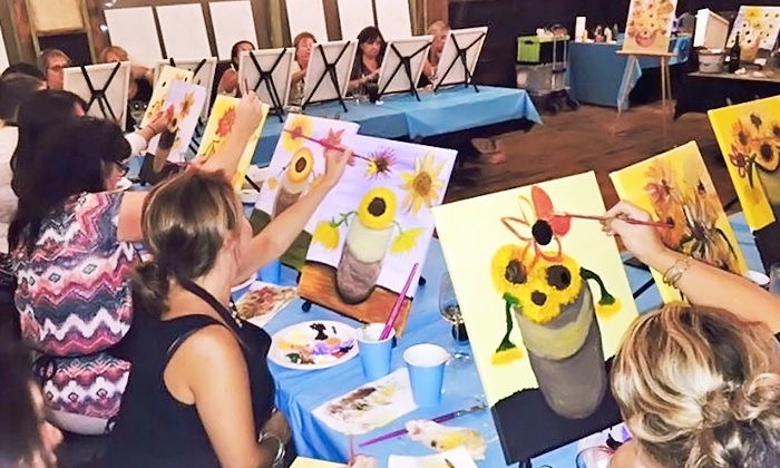 Artist at Heart Paint Party - Multiple Locations: One Painting Class for One or Two People at Artist at Heart Paint Party (Up to 41% Off)