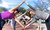 Hiking Yoga - Reverchon Park: Yoga Hike for One or Two or Private Hiking Yoga Group from Hiking Yoga (Up to Half Off)