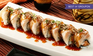 Fire Ninja Modern Asian Cuisine & Sushi: Sushi and Asian Food at Fire Ninja Modern Asian Cuisine & Sushi (Up to 50% Off). Two Options Available.