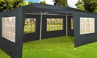 Garten-Festzelt 6x 3 m mit 18 Rundbogenfenstern und Seitenteilen in der Farbe nach Wahl