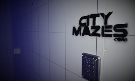 Live Escape Game for Up to 24 People at City Mazes (Up to 72% Off)