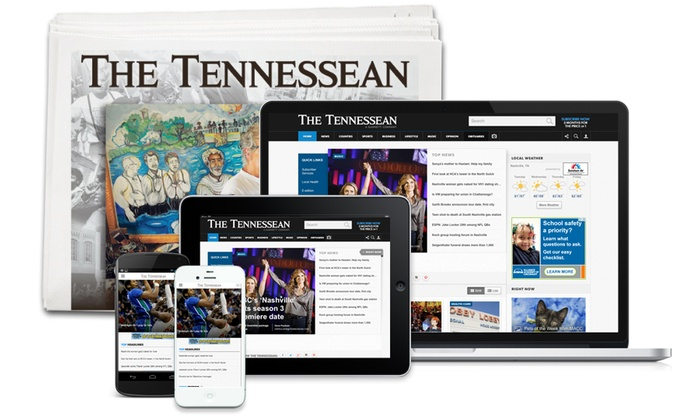 The Tennessean: 26- or 52-Week Full Access Subscription with Sunday and Wednesday Delivery of The Tennessean (Up to 81% Off)