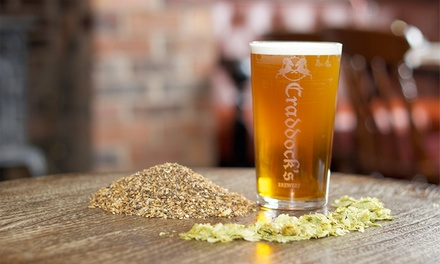 Brewery Tour, Beer Tasting and Pie and Mash Meal for One or Two at Craddock's Brewery