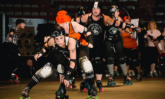 No Coast Derby Girls - Pershing Center: $16 for No Coast Derby Girls Roller Derby Bout for Two at Pershing Center ($34.40 Value). 2 Dates Available.