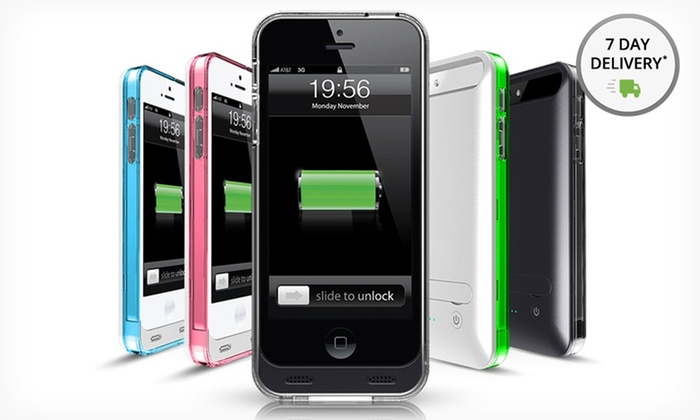 Mota Apple-Certified iPhone 5/5s Battery Case: Mota iPhone 5/5s MFI Battery Case. Multiple Colors Available. Free Shipping and Returns.
