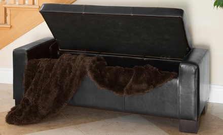 Leather and Cloth Storage Ottomans. Multiple Styles and Colours Available.