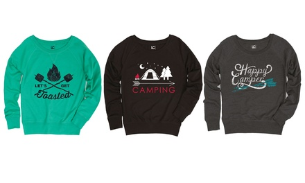 Ladies' Camping Slouchy Pullover