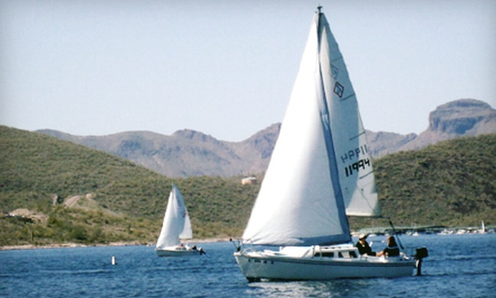 Arizona Sailing Adventures - Peoria: $149 for a Three-Hour Boat Cruise for Up to Four with Fruit and Cheese at Arizona Sailing Adventures ($300 Value)
