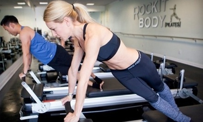 RockIt Body Pilates - Multiple Locations: Three or Five Pilates or Barre Classes at RockIt Body Pilates (Up to 74% Off)