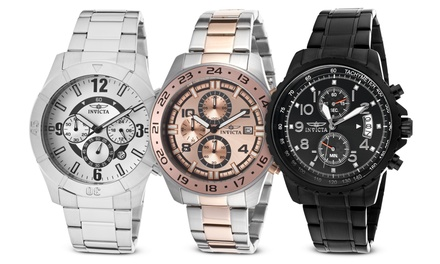 Invicta Pro Diver and Specialty Collections Men's Chronograph Watches from $69.99 to $79.99