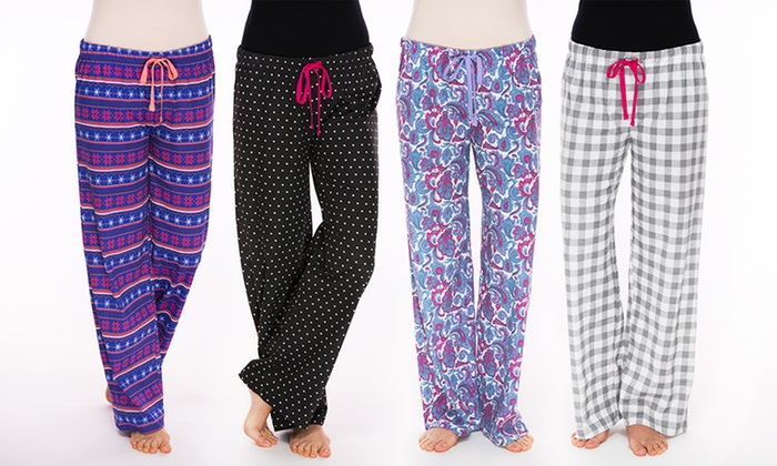 Womens Pajama Pants 4 Pack Groupon Goods