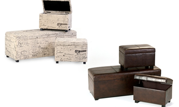Cielo Lifestyle: Choice of Three-Piece Ottoman Sets, Including Delivery
