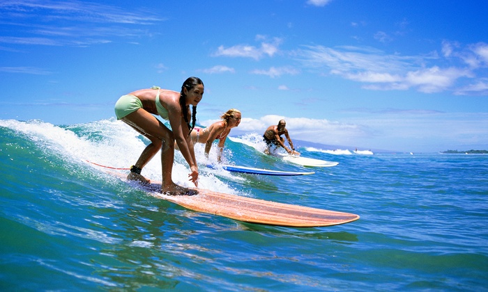 Star-Surf - Ocean Park: One or Three Surf Lessons of Half-Day Surfboard Rental at Star-Surf (Up to 62% Off)