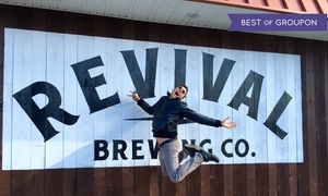 Revival Brewing Company: Brewery Package with Tastings and Pint Glasses for Two, Four, or Six at Revival Brewing Company (Up to 44% Off)