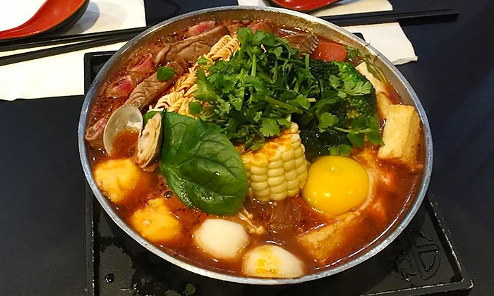 The Flame - Central Richmond: Two or Five Groupons, Each Good for $12 Towards Asian Hot Pot Dinner at The Flame (Up to 42% Off)