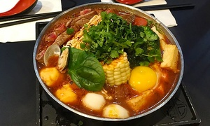 The Flame: Two or Five Groupons, Each Good for $12 Towards Asian Hot Pot Dinner at The Flame (Up to 42% Off)