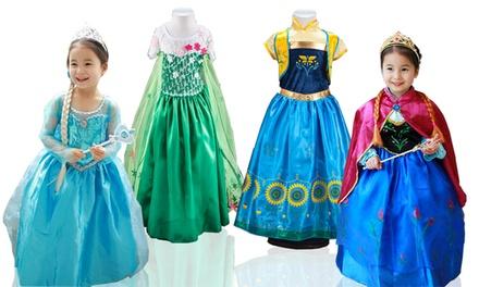 Disfraz de princesa Elsa y Anna para niña