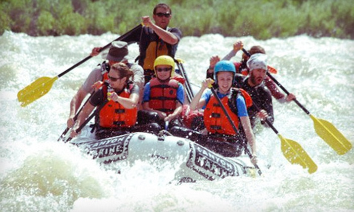Canyon Marine Whitewater - Rock Creek: Half-Day Whitewater-Rafting Trip for Two, Four, or Six from Canyon Marine Whitewater in Salida (Up to 52% Off)