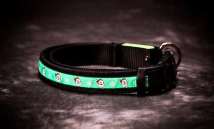 LED Santa Dog Collar. Free Returns.