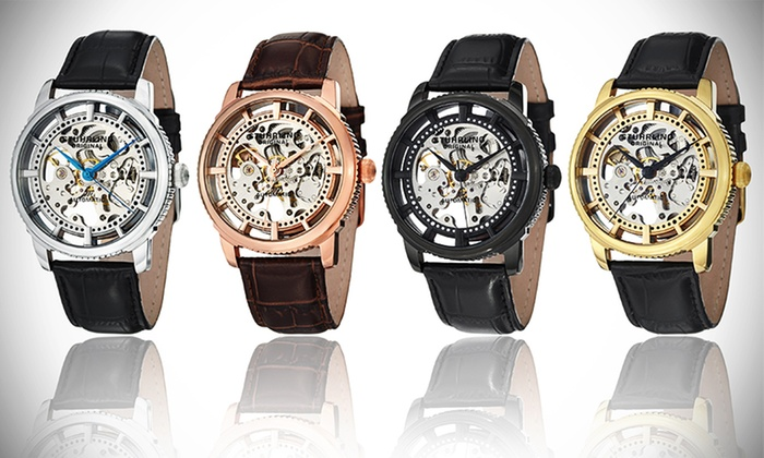 stuhrling original men s watch groupon goods stuhrling original men s skeletonized legacy dress watch stuhrling original men s skeletonized legacy dress watch