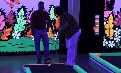 Up to 52% Off Rounds of Mini Golf at Glowgolf
