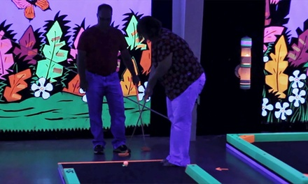Three Rounds of Glow-in-the-Dark Mini Golf During One Visit for Two, Four, or Six at Glowgolf (Up to 58% Off).