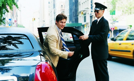 One-Way or Round-Trip Town-Car or SUV Service from American Limos (Up to 48% Off)