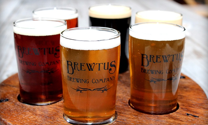 Brewtus Brewing - Sharon: Beer Flight with Appetizers and Take-Home Growlers for Two or Four at Brewtus Brewing (Up to 50% Off)