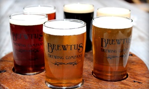 Brewtus Brewing: Beer Flight with Appetizers and Take-Home Growlers for Two or Four at Brewtus Brewing (Up to 50% Off)