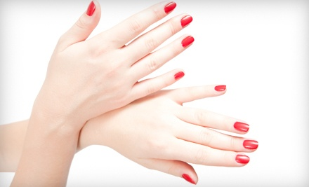Shellac Manicure or Pedicure at Only Nails and Hair (Up to 53% Off)