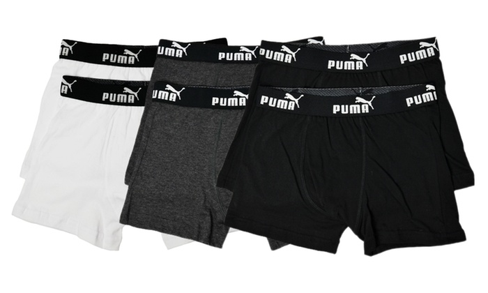 2-Pack of Puma Boys' Boxer Trunks: 2-Pack of Puma Boys' Boxer Trunks. Three Colors Available.