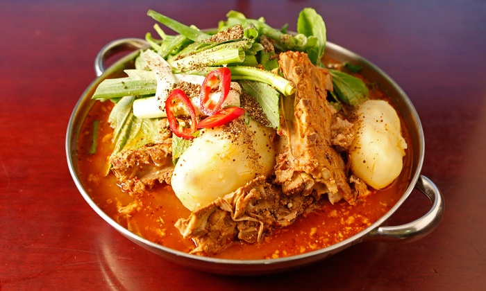 Gam Ja Gol - Rowland: Authentic Korean Food for Two or Four at Gam Ja Gol (Up to 50% Off)