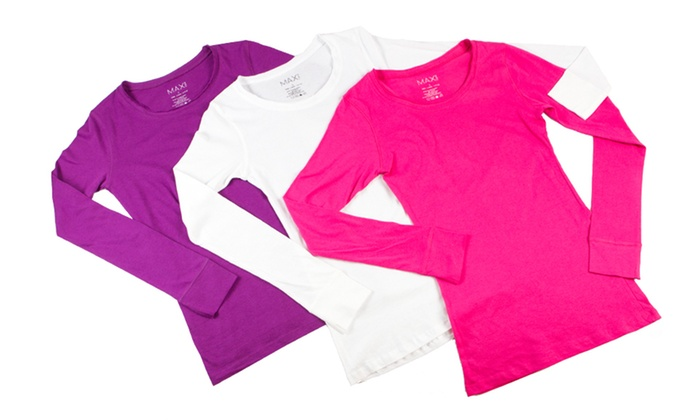 Max Rave 100% Cotton Long-Sleeved Tees: $24 for Three Max Rave Long-Sleeved Shirts ($72 List Price). Multiple Options Available. Free Shipping and Free Returns.