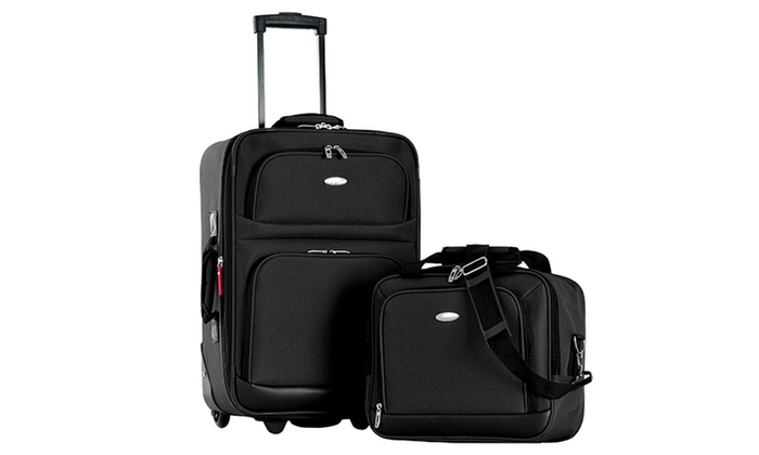 Olympia Auto Mall >> Olympia USA Weekender Carry-On Luggage Set (2-Piece) | Groupon
