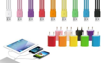 1 o 2 cables de carga 3 en 1 disponibles en diferentes colores con opción a adaptador