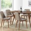 Lavin 7-Piece Midcentury-Modern Dark-Walnut Finish Wood Dining Set