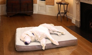 Memory Foam Pet Beds with Faux Sheepskin or Terry Top: Memory-Foam Pet Beds with Faux Sheepskin or Terry Top