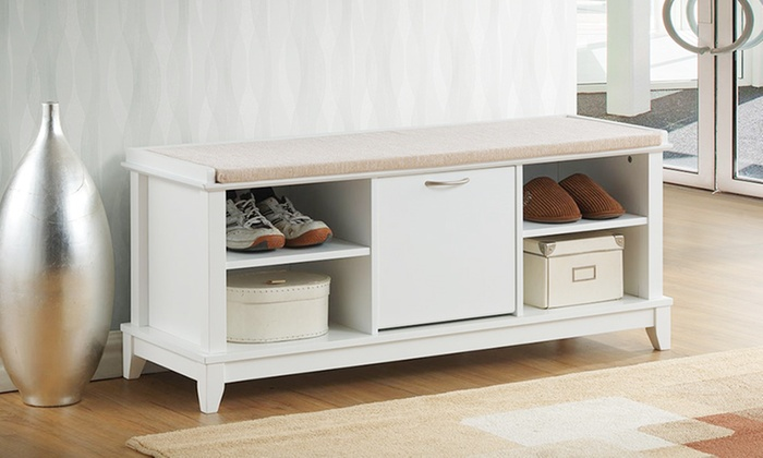 Incredible Baxton Studio Roderica Solid Wood Shoe Storage Bench With Cushion Ocoug Best Dining Table And Chair Ideas Images Ocougorg