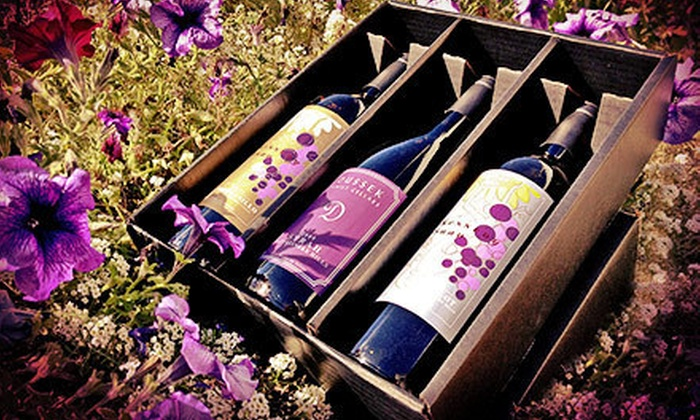 The Woodhouse Wine Estates - Valley Industrial: $39 for a Reserve Wine Tasting for Two with Three Bottles to Take Home at The Woodhouse Wine Estates ($85 Value)