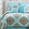 Fretwork Print Comforter Set (8-Piece)
