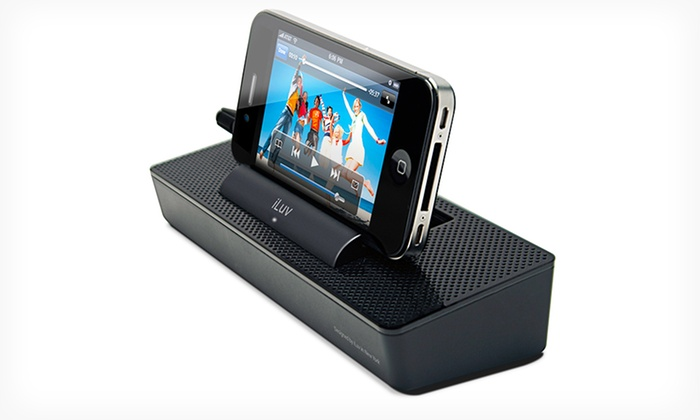 iLuv ModernBox Portable Speaker Dock (iSP125BLK): $8.99 for an iLuv ModernBox Portable Speaker Stand for Smartphones (iSP125BLK) ($24.99 List Price). Free Returns.