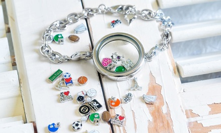 Locket Necklace or Bracelet with Optional Charms from Stamp the Moment