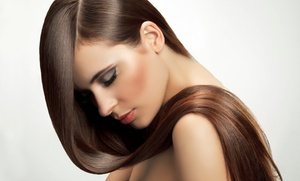 DeVicci Salon: Original Keratin Complex by Coppola Hair-Smoothing Treatment or Haircut at DeVicci Salon (Up to 56% Off)